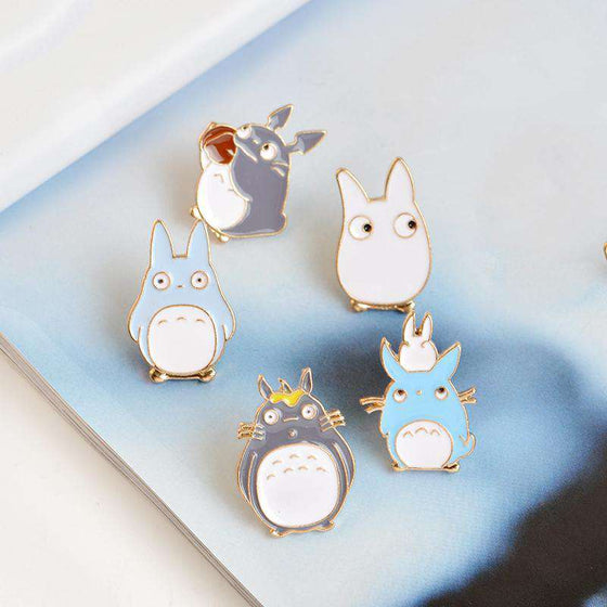 Friendly Totoro Enamel Pins - Set of 5!