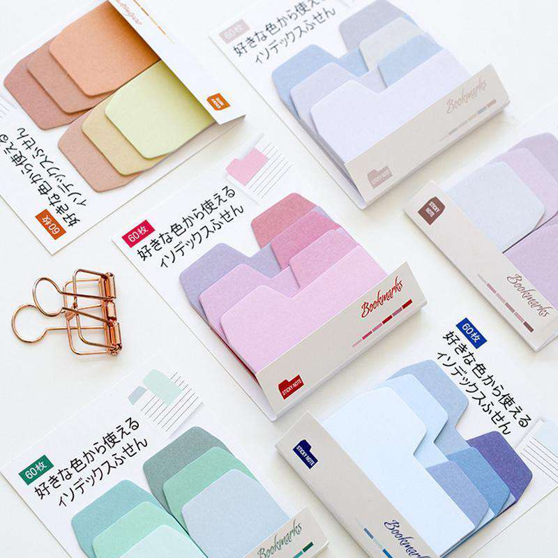 Gradient Colour Sticky Index Memo Notes