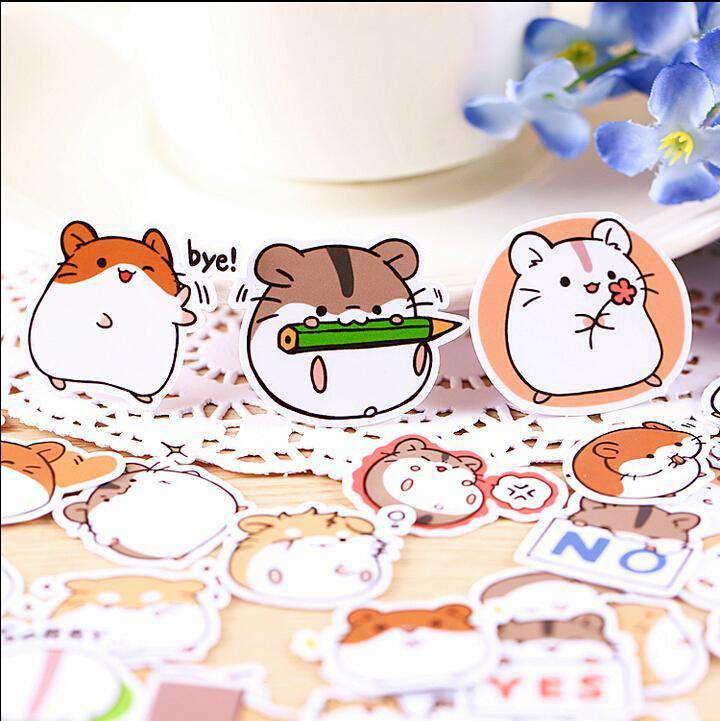 Happy Hampster Sticker Set