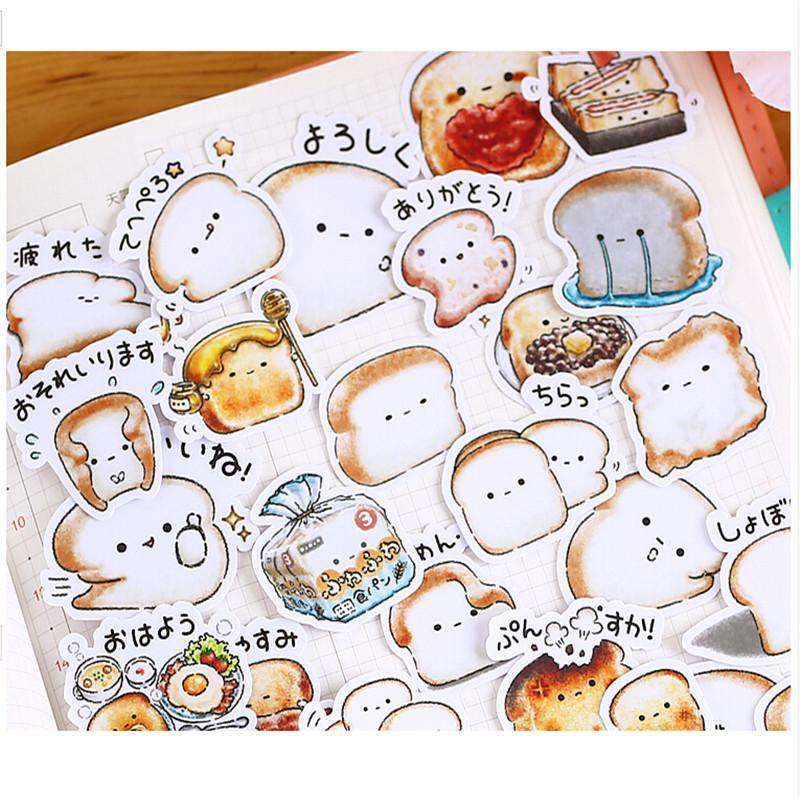 Happy Bread Stickers Set