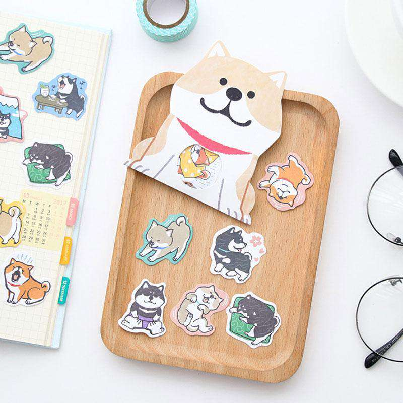 Shiba Inu Stickers - Set of 30