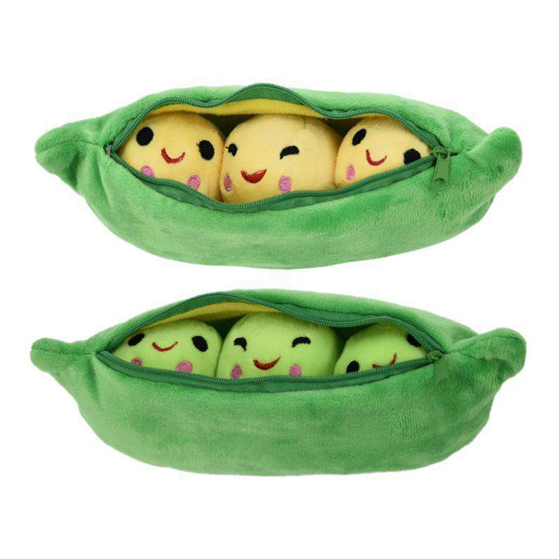 Cute Peas in a Pod 25cm Soft Plushy