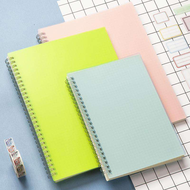 b5 colored bullet journal grid blank dot line coil notebook