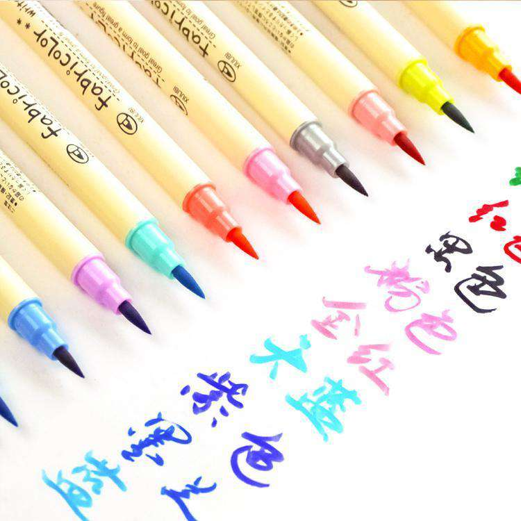 10 Set of Watercolour Calligraphy Pens