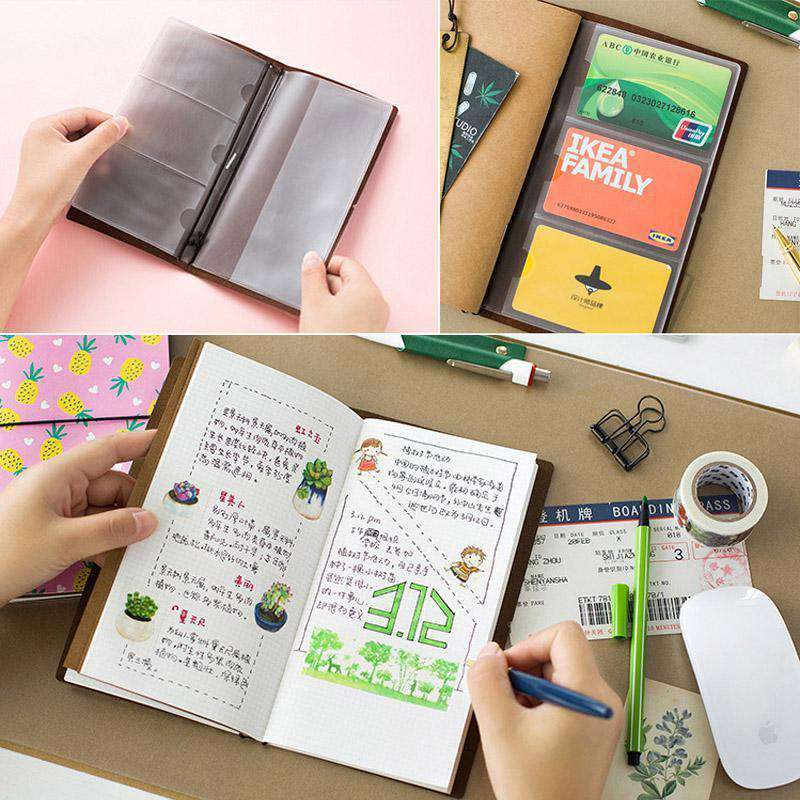 Colourful Cartoon Leather Midori Travel Planner