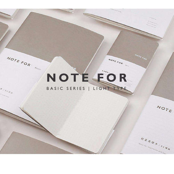 Note For Light Life Bullet Journal Lined/Grid/Blank/Dots Pages