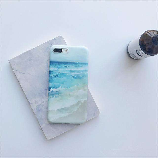 Blue Waves iPhone Case