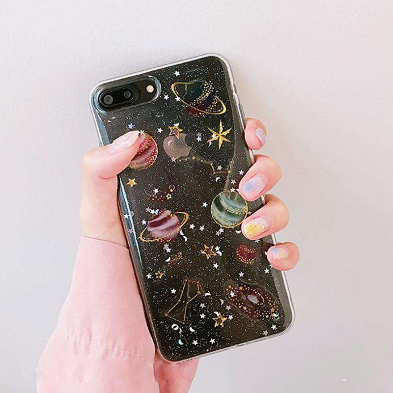 Transparent Planets iPhone Case