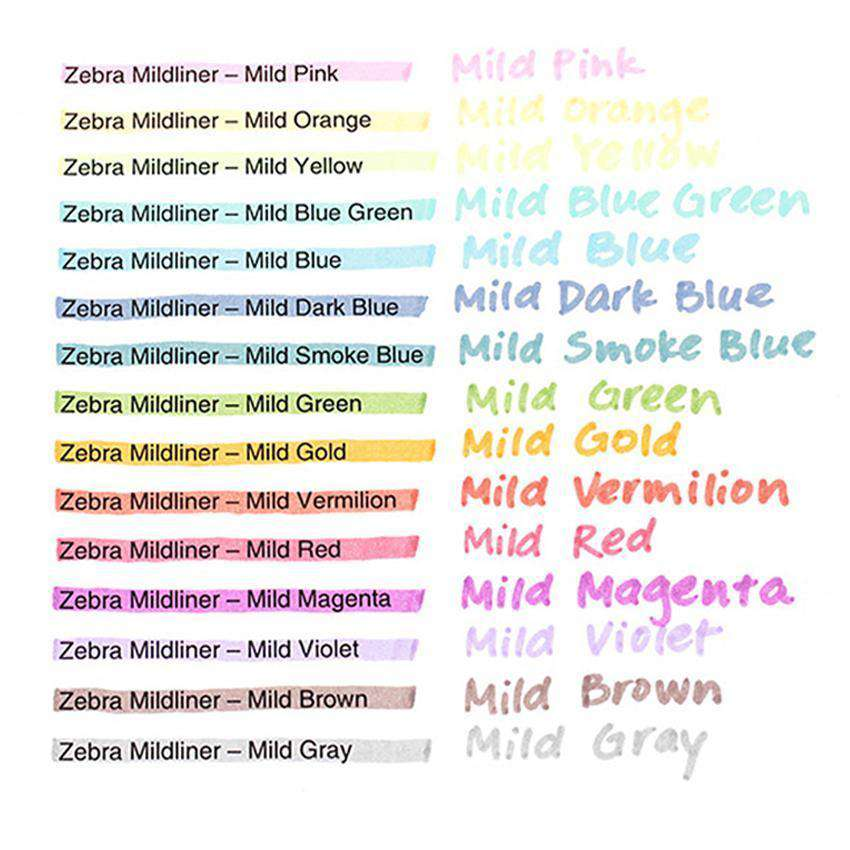 Zebra Mildliner Highlighters
