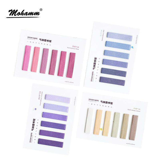 Colour Gradient Memo Pad Stickers