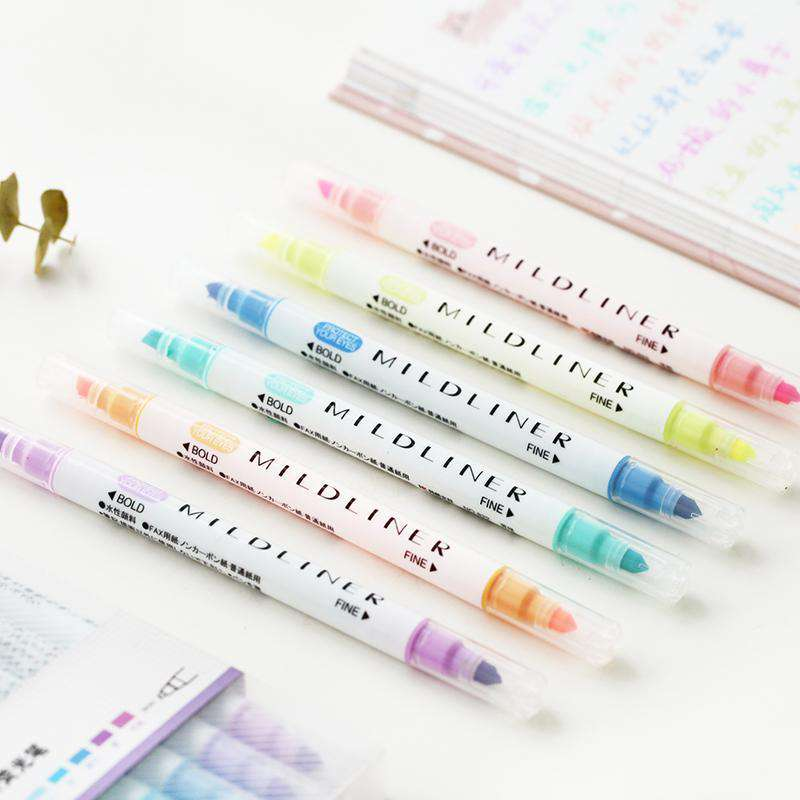 Double Sided 'Mildliner' Style Highlighters - Set of 12