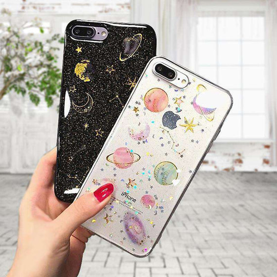Transparent Planets Phone Case