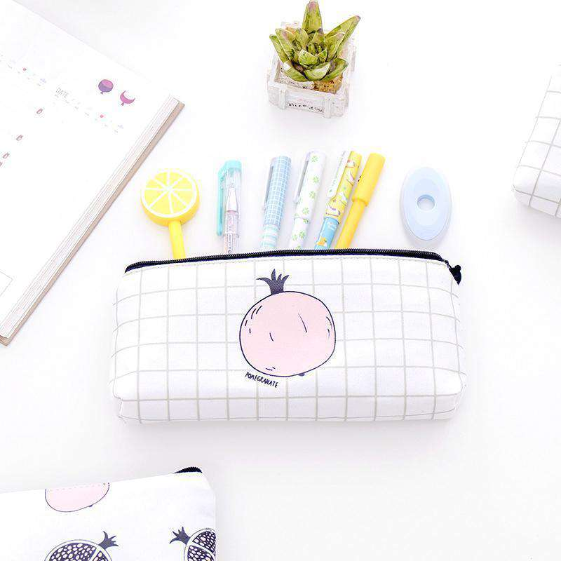 Kawaii Fruit Pencil Cases