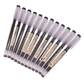 MUJI Style Black 0.5mm Gel Pen - Set of 3
