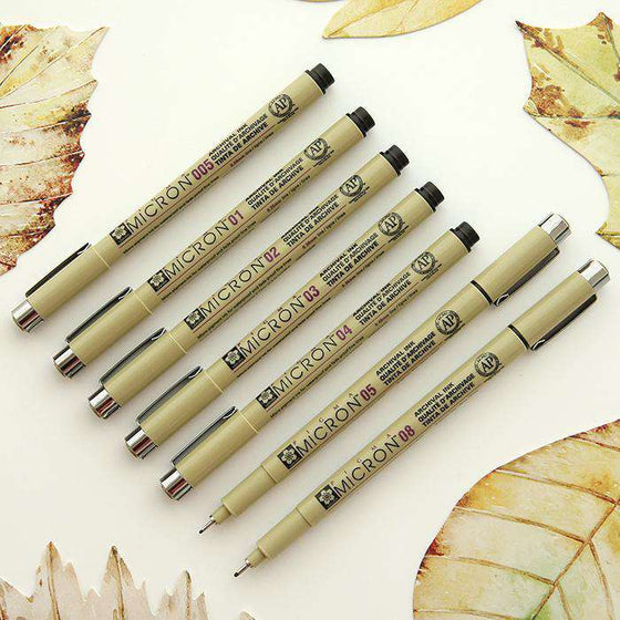 Sakura Pigma Micron Pen - Set of 7