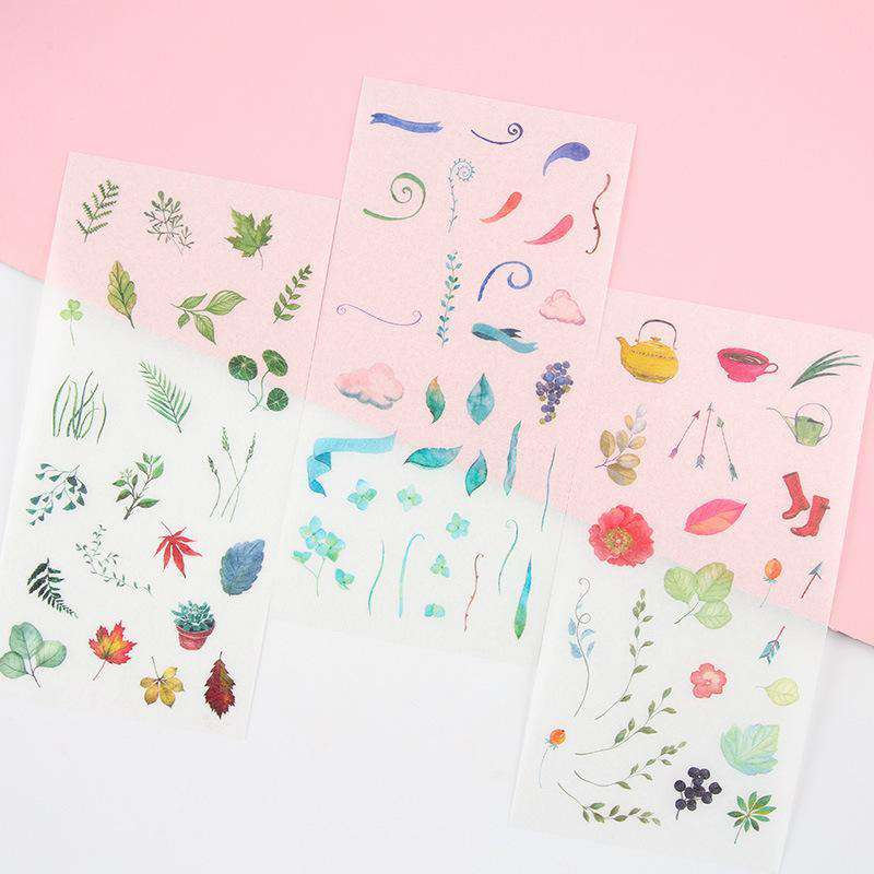 Watercolour World Sticker Set - 6 Sheets included!