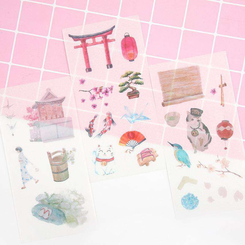 Peaceful Japan Sticker Set - Includes 6 sheets!