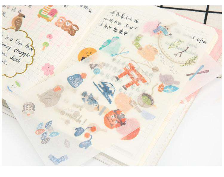 Happy Japan Sticker Set - Includes 6 Sheets!