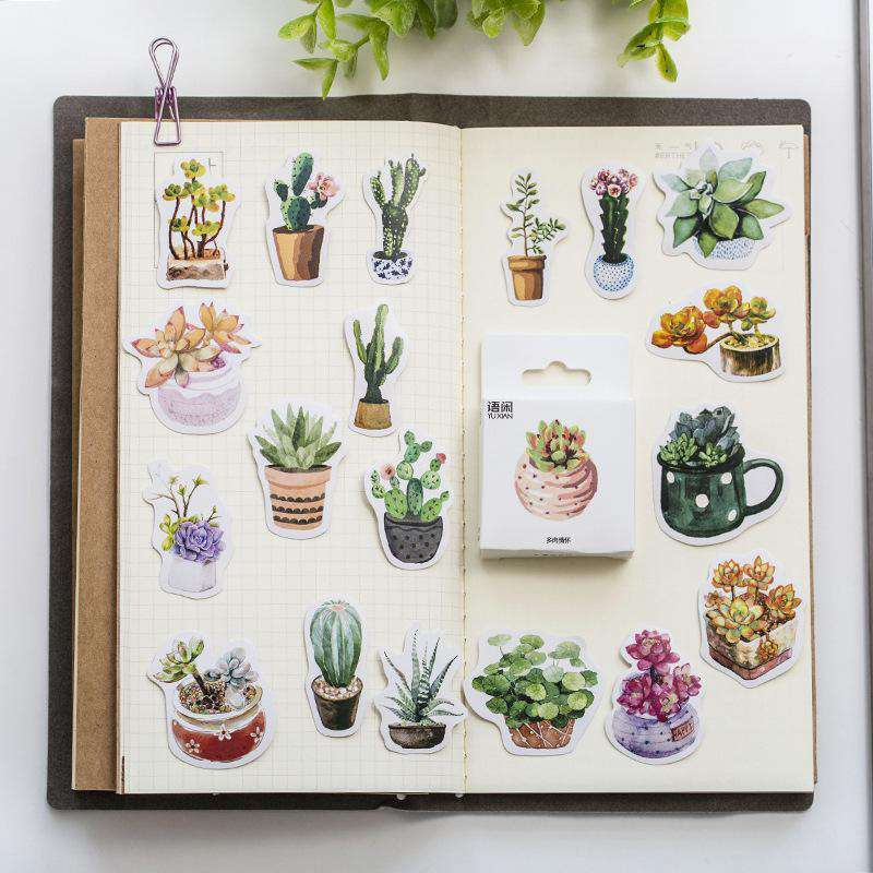 Potted Plants Sticker Sets - 2 sets included!