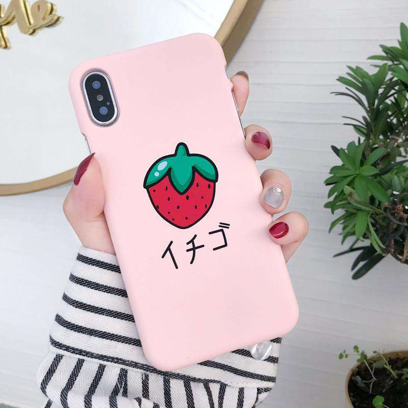 Kawaii Strawberry iPhone Case