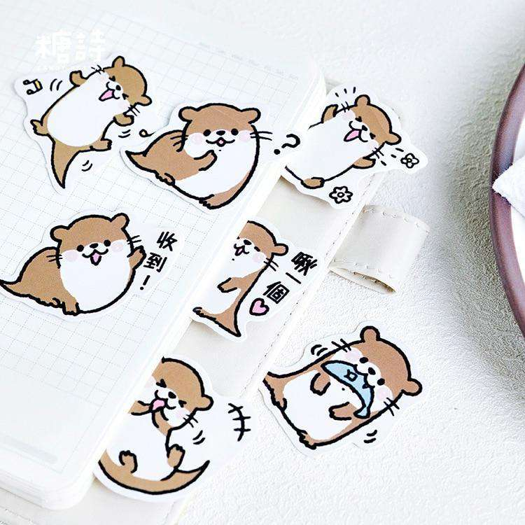 Happy Otter Sticker Set