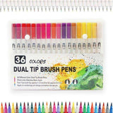 Dual Brush Pens - Sets of 12/24/36/48/100