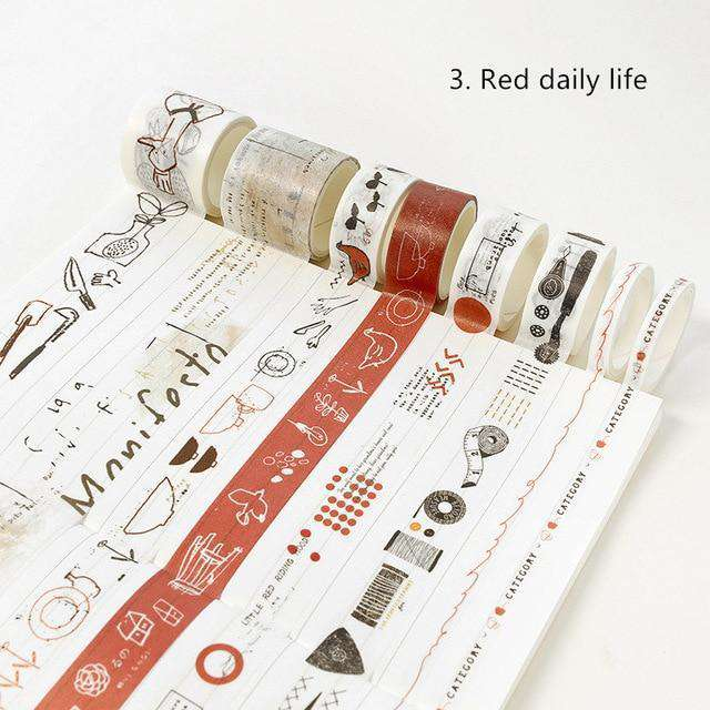 Everyday Life Washi Tape - Set of 8!