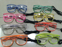 Light Up Glasses- transparent frame and lens