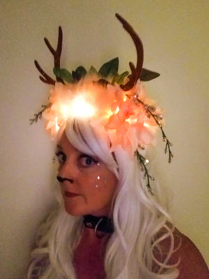 Destiny: Lumio Designs custom one-of-a-kind headdress with antlers