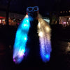 Boa: Fuzzy multicolor LED Boa with rechargeable batteries and heavy duty LEDs