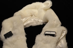 Polar: Lumio Designs furry LED light up glowing polar bear hood