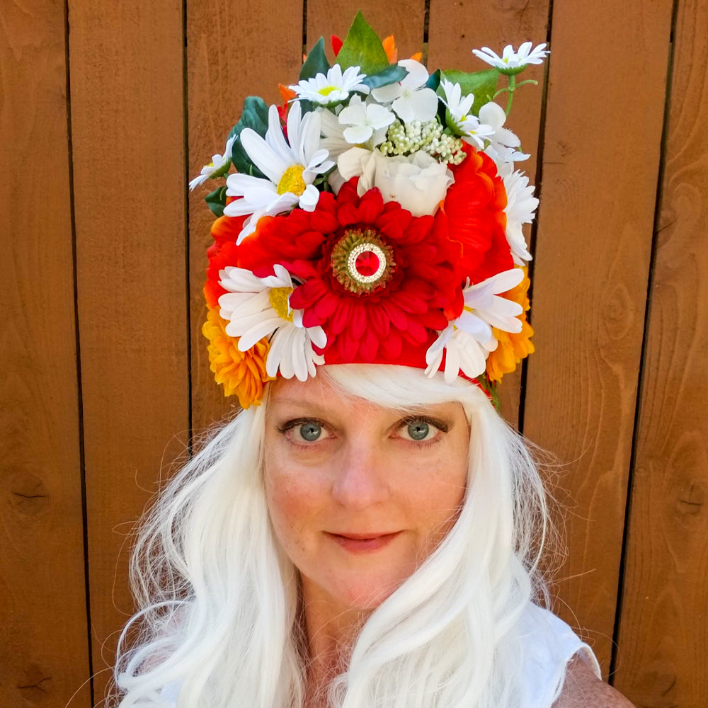 Daisy: Lumio Designs summer floral lit LED festival headdress