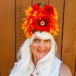 Fire: Lumio Designs vibrant floral light up festival LED headdress