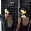 Brim: Lumio Designs Wide Brim Flowered Hat with LEDs