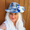 Sky: Lumio Designs Floral Lit Plaid Fedora