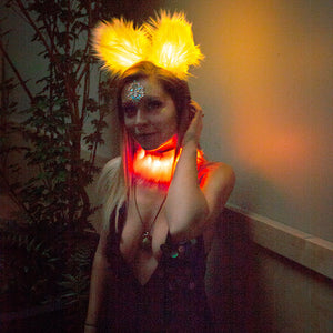 Fringe: LED light up feather collar