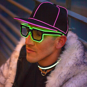 Digital: Lumio Designs EL Wire light up digital glasses for kids, festivals, events and raves
