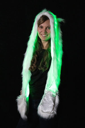Wolf: Lumio Designs Furry Light Up LED glowing Animal Hood