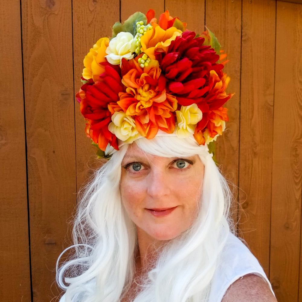 Blooming: Lumio Designs spring floral lit LED festival headdress