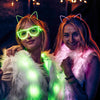 Kitty: Lumio Designs EL Wire light up glowing cat ears