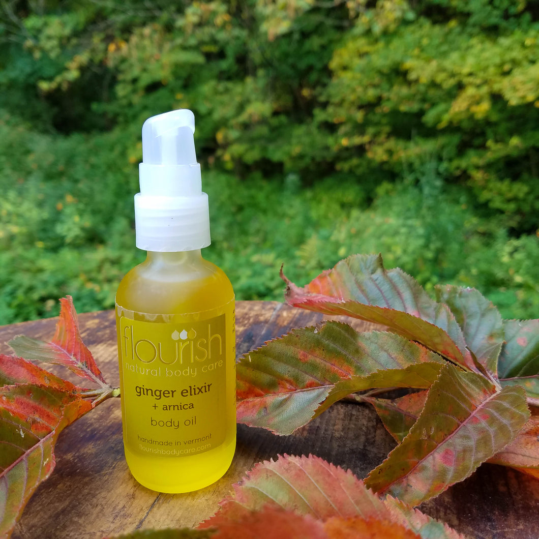 Ginger Elixir + Arnica Body Oil