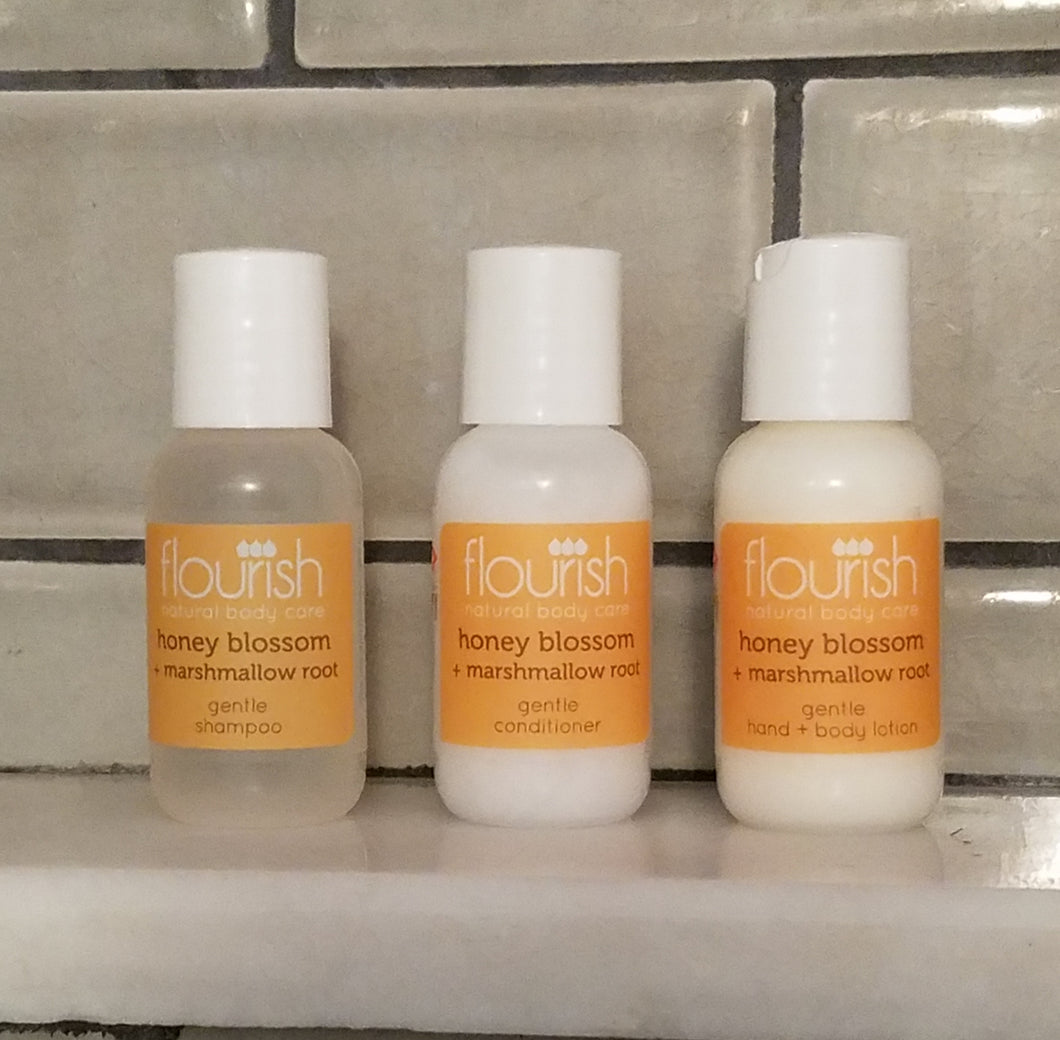 Flourish Bodycare Trio - Honey Blossom + Marshmallow Root