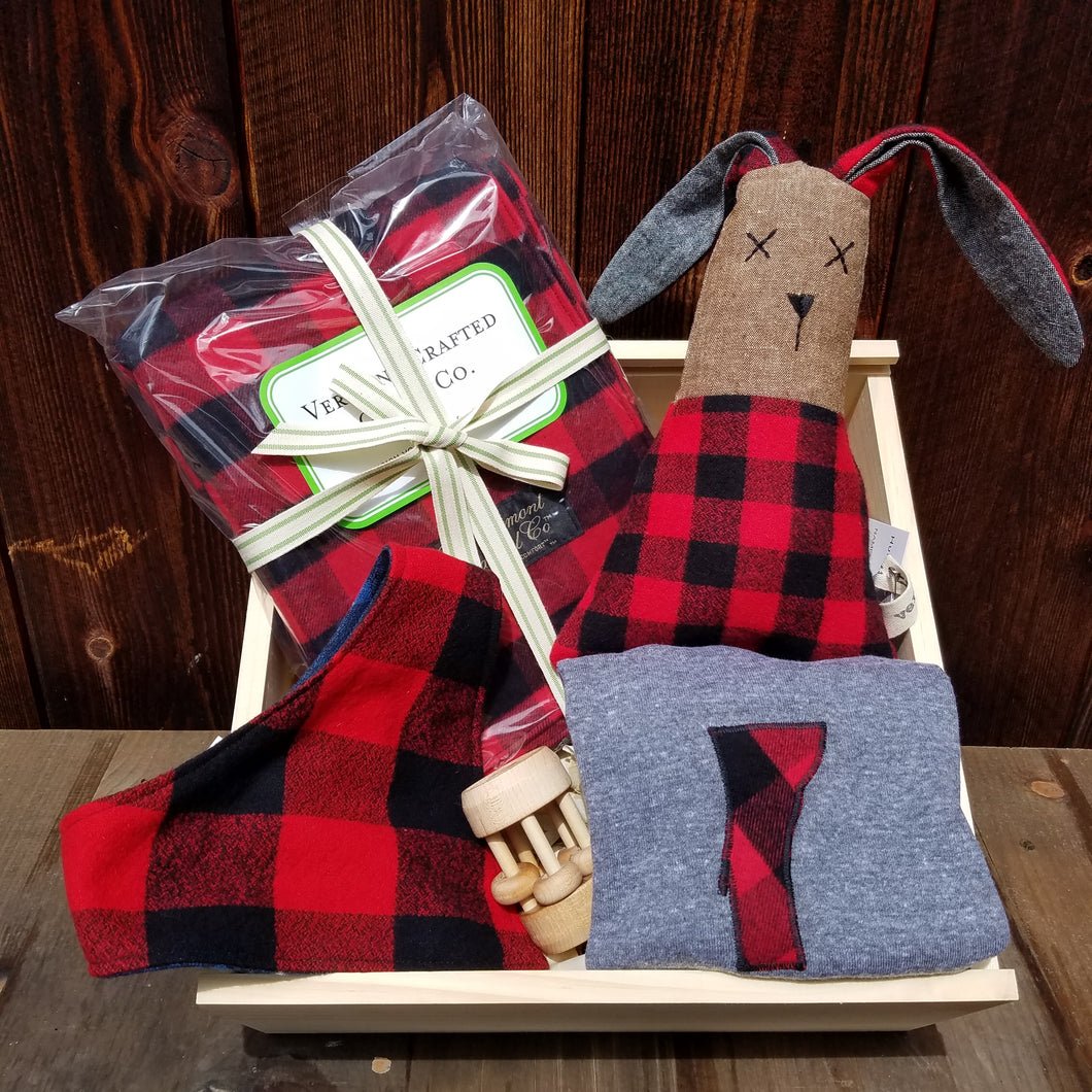 Buffalo Check Flannel Baby Vermont Box