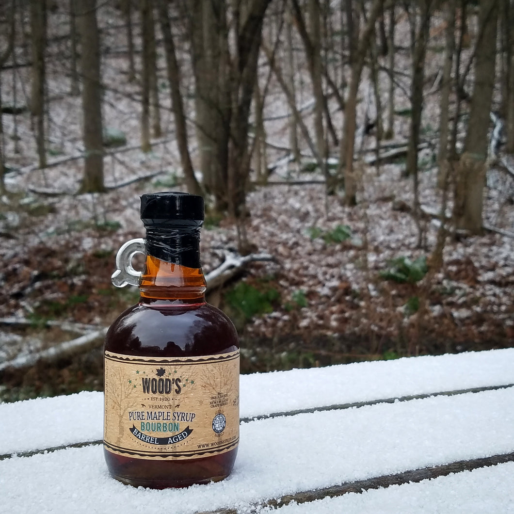 Bourbon Barrel Aged Wood's Pure Vermont Maple Syrup
