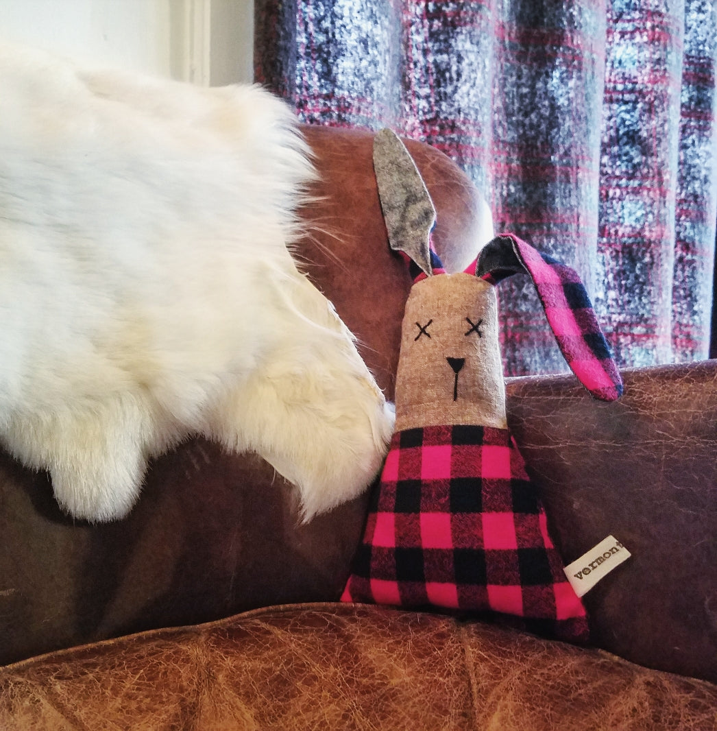 Vermont Buffalo Check Flannel Bunny