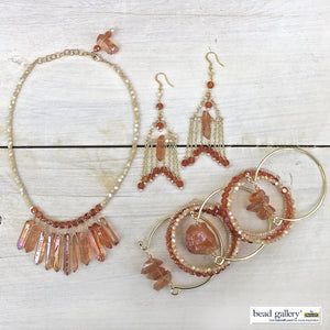 DIY Saturday :: Sun-kissed Collar Necklace Set