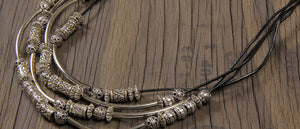 Design on a Dime: Multi-strand Silver Tube Necklace