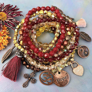 Autumn Spirit DIY Bracelet Stack Collection by Halcraft Collection