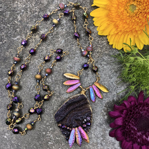 Amethyst Sky DIY Necklace Collection by Halcraft Collection