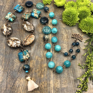 Aqua Autumn DIY Necklace Collection by Halcraft Collection